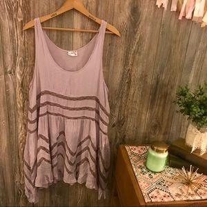{intimately free people} dusty lilac slip dress l